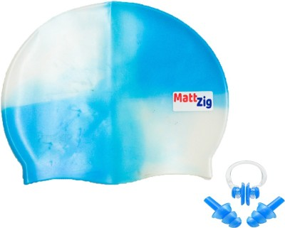 MattZig Funkey  One Swimming Cap + 1 Pair ear Plugs + 1 Nose Clip  Swimming Kit