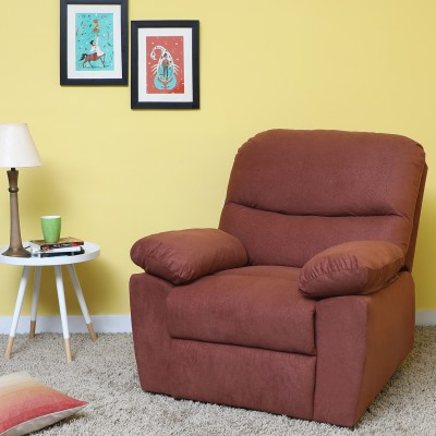 Sofame Dream Fabric Manual Recliners(Finish Color - Brown)