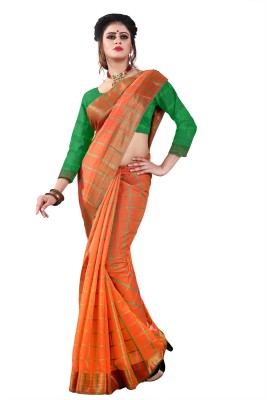 https://rukminim1.flixcart.com/image/400/400/jh2aqvk0/sari/n/z/v/free-checks-orange-druxy-original-imaf5524hv7b4acx.jpeg?q=90