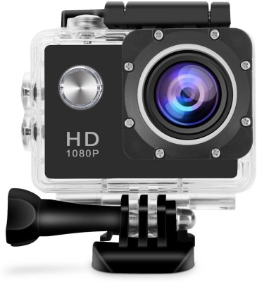 Piqancy Sports Action Camera HD 1080p 12MP Waterproof Action Camera best quality Sports and Action Camera Black, 12 MP