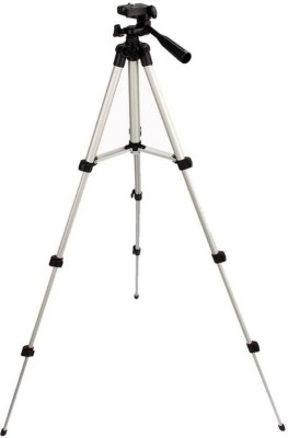 Oxza Adjustable 3Way Head Mobile Phone Camera Stand Holder Tripod Kit Silver, Black, Supports Up to 1000 g