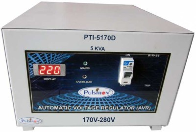 PULSTRON PTI 5170D 5 KVA  170V 280V  Single Phase Automatic Voltage Stabilizer for Mainline Grey