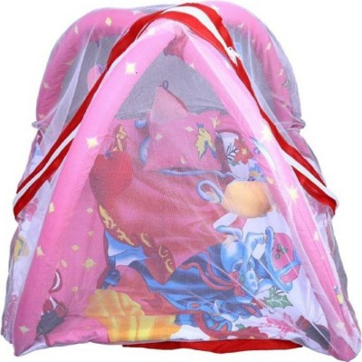 Chote Janab Cotton Kids BED CUM WITH MOSQUITO NET Mosquito Net (Pink) Kids Crib(COTTON, Pink)
