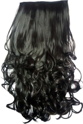 STYLERA Smooth Tangle Free Curly Wavy Stylish  Bride Synthetic 11 Inch Shoulder Length Natural Curve Style  Extention (Model 5/4) For Girls And Women Wigs (Natural Dark Brown) Hair Extension