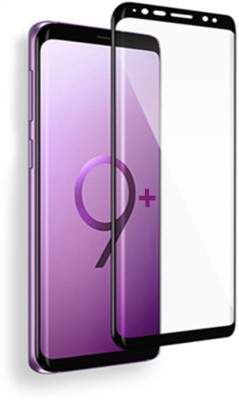 VINNY WITH DEVICE Screen Guard for Compitable Samsung Galaxy S9 Plus, Galaxy S9 Plus (2018 edition) Shockproof Layer Protection 5D 9H, premium Full 9H Covered Edges Tempered Glass Screen Protector Compatable for, Samsung Galaxy S9 Plus S9 + 2018 Galaxy S9 Plus Screen Protector - BLACK