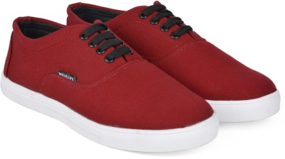 Wega Life ASTER Sneakers For Men(White, Maroon) at flipkart