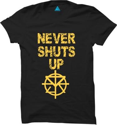 Riddhi Siddhi Graphics Printed Men Round Neck Black T-Shirt