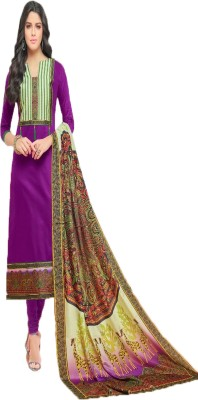 Neet's Creations Cotton Embroidered Salwar Suit Dupatta Material(Un-stitched)