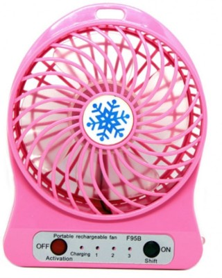 Blue Birds New Arrival Mini Air Conditioner Usb Mini Cooler/mini Fan/ceiling/usb Fan For Kitchen/home/indoor/outdoor/office Ceiling/wall/exhaust/ Mini Fan/mini cooler 4 Blade Table Fan(Multicolor)  available at flipkart for Rs.239