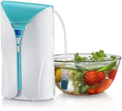 Prestige CleanHome Fruit and Vegetable Cleaner 250 W Food Processor(White and Blue)