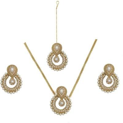 Bold N Elegant Alloy Jewel Set(Gold)