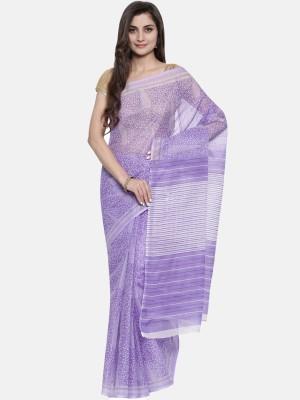 Divastri Printed Mangalagiri Polycotton Saree(Purple)