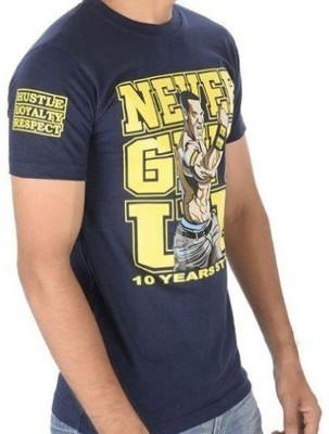 vency creation Printed Men Round Neck Blue T-Shirt