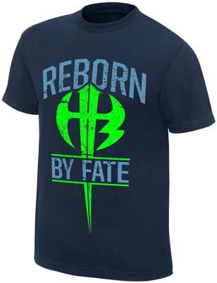 vency creation Solid Men Round Neck Dark Blue T-Shirt