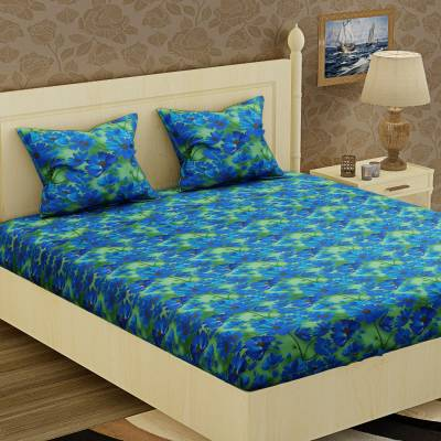 IWS 104 TC Cotton Double Floral Bedsheet