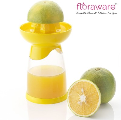 Floraware Plastic Hand Juicer Yellow Multi-Purpose Transparent Squeezer / Sprayer(White, Yellow)