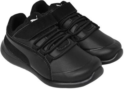 Puma Boys Lace Walking Shoes Black Puma Sports Shoes