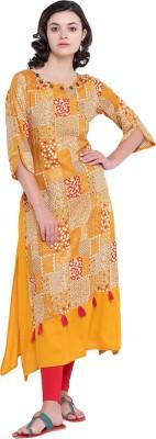 Saara Women Printed Straight Kurta(Multicolor)