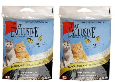 Goofy Tails Intersand Cat Exclusive Scoopable Cat Litter, 10Kg (Pack Of 2) Total 20 Kg. Pet Litter Tray Refill