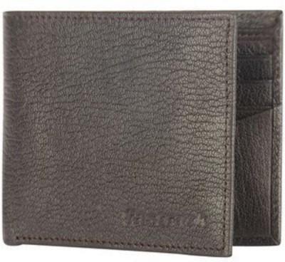 Fastrack Men Brown Genuine Leather Wallet 6 Card Slots Fastrack Wallets