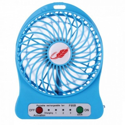 KBOOM Portable Mini Fan Mini Air Conditioner Usb Mini Cooler/mini Fan/ceiling/usb Rechargeable Fan For Kitchen/home/indoor/outdoor/office Ceiling/wall/exhaust Mini Fan/cooler 4 Blade Table Fan(Multicolor)  available at flipkart for Rs.239