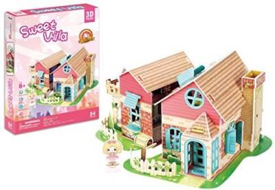 Cubicfun P615H Sweet Villa Puzzle, 84 Pieces