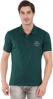 Jockey Solid Men Polo Neck Dark Green T-Shirt