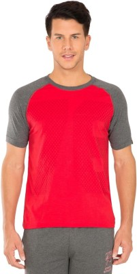 Jockey Printed Men Round Neck Red T-Shirt