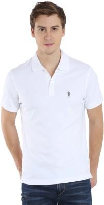 Jockey Solid Men Polo Neck White T-Shirt