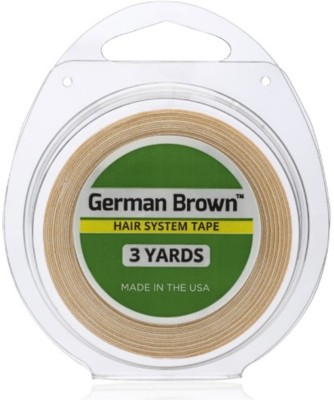 Walker Tape German Brown hair System Tape 1 inch 3 yard Roll Double Sided Tape Adhesive Band Aid(Set of 1)