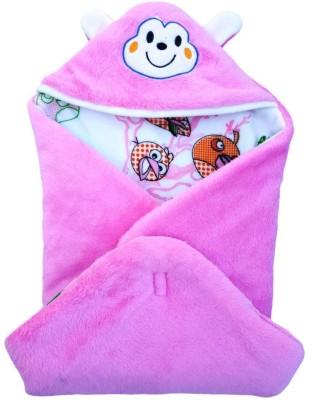 Brandonn HOODED FOAM FILLED WELCROW STICHED SAFETY BAG Sleeping Bag(Pink)