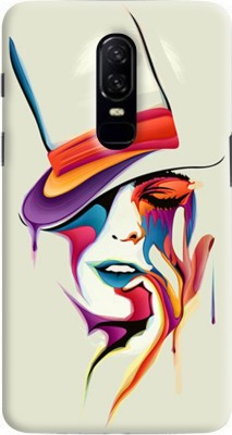 Gadget Mate Back Cover for OnePlus 6(Multicolor, Rubber)