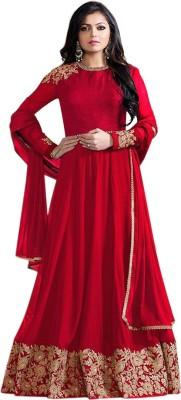 Fashionuma Anarkali Gown(Red)