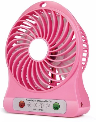 KBOOM Portable Mini Fan Mini Air Conditioner Usb Mini Cooler/mini Fan/ceiling/usb Fan For Kitchen/home/indoor/outdoor/office Ceiling/wall/exhaust Mini Fan/cooler 4 Blade Table Fan(Multicolor)  available at flipkart for Rs.239