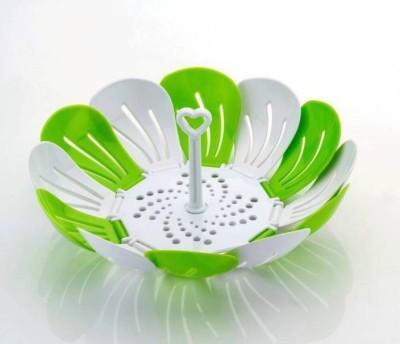 Home Turf Fruit and Vegetable Basket Plastic Fruit & Vegetable Basket(Green) at flipkart