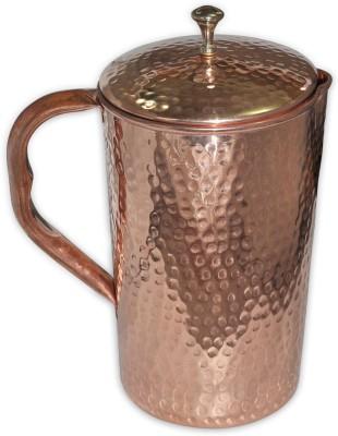 Prisha India Craft 1.7 L Water Pure Copper Jug Handmade Utensils for Ayurveda Healing Jug Copper Prisha India Craft Jugs