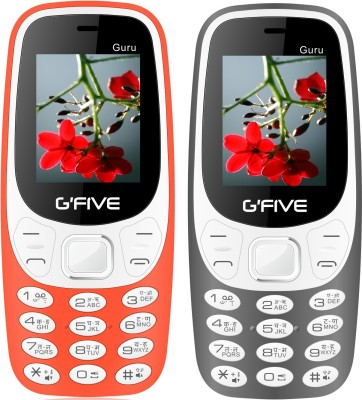 Gfive Guru Combo of Two Mobiles(Orange & Grey)