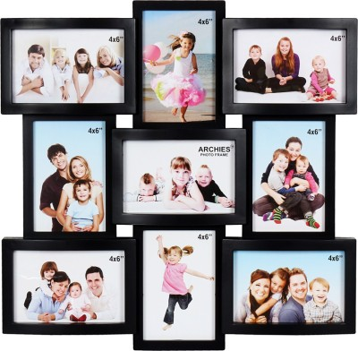 Archies Collage Frames Generic Photo Frame(Black, 9 Photos)