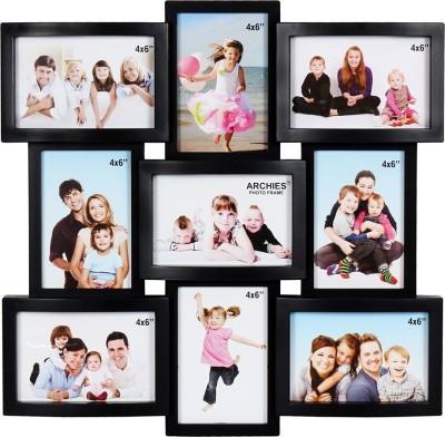 Archies Frames Acrylic Photo Frame(Black, 9 Photos) at flipkart