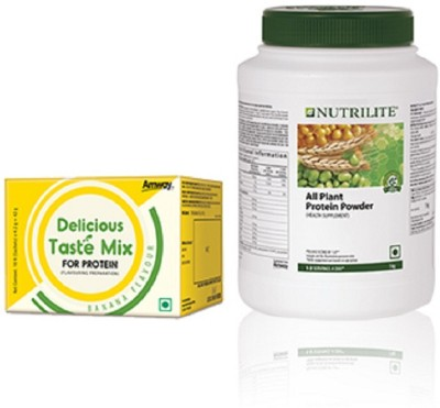 Amway NUTRILITE® Delicious Taste Mix & All Plant Protein Powder Plant-Based Protein(1048 g, Banana)  available at flipkart for Rs.2490