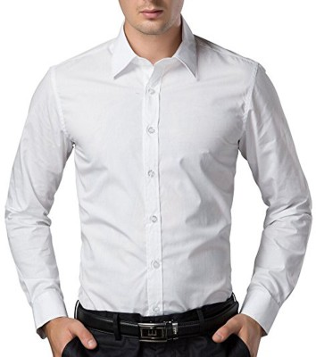 Trendz Deeksha Men Solid Casual White Shirt