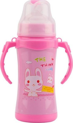Croox 180 ML Thermal Insulation Stainless Steel Water and Milk Baby Feeding Bottle - 180 ml (Pink)-(Sipper/180/Pink/02)(Pink)