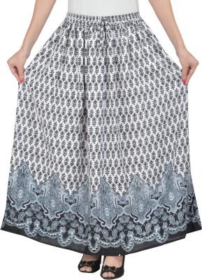Sera Printed Women A-line Black Skirt