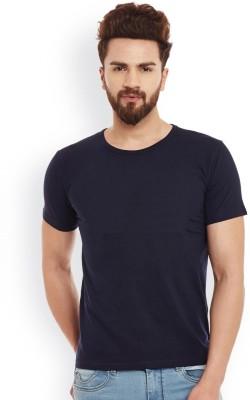 Smartees Solid Men's Round Neck Blue T-Shirt