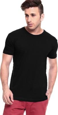 Smartees Solid Men's Round Neck Black T-Shirt