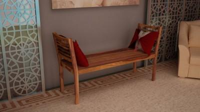 Vintej Home Solid Wood 3 Seater(Finish Color - TEAK FINISH)