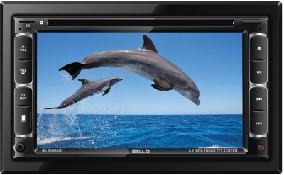 iBELL 2DIN Car Multi-Media Player, CD Receiver with Front SD/USB/AUX Input Black LCD(6.2 cm)