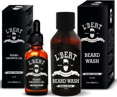 The Man Company Argan & Geranium Beard Oil (30ml) & Wash Combo (100ml)(Set of 2)
