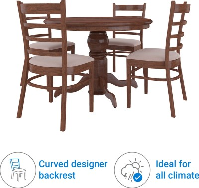 44 Off On Royaloak Coco Solid Wood 4 Seater Dining Set Finish Color