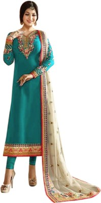 2c663686ee Style Amaze Georgette Embroidered Semi-stitched Salwar Suit ...